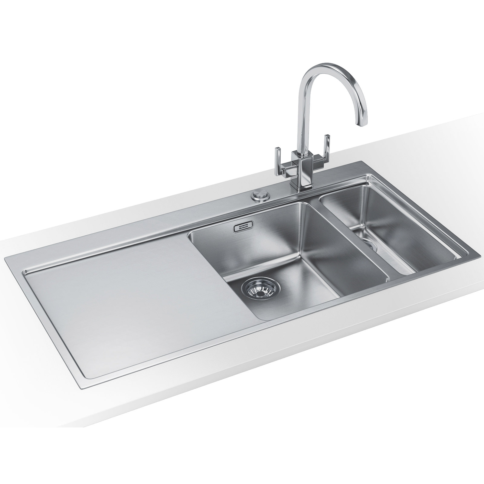 Franke Sinks And Taps : Franke Mythos Slim-Top DP MMX 261 Stainless Steel Sink And Tap 127 ...