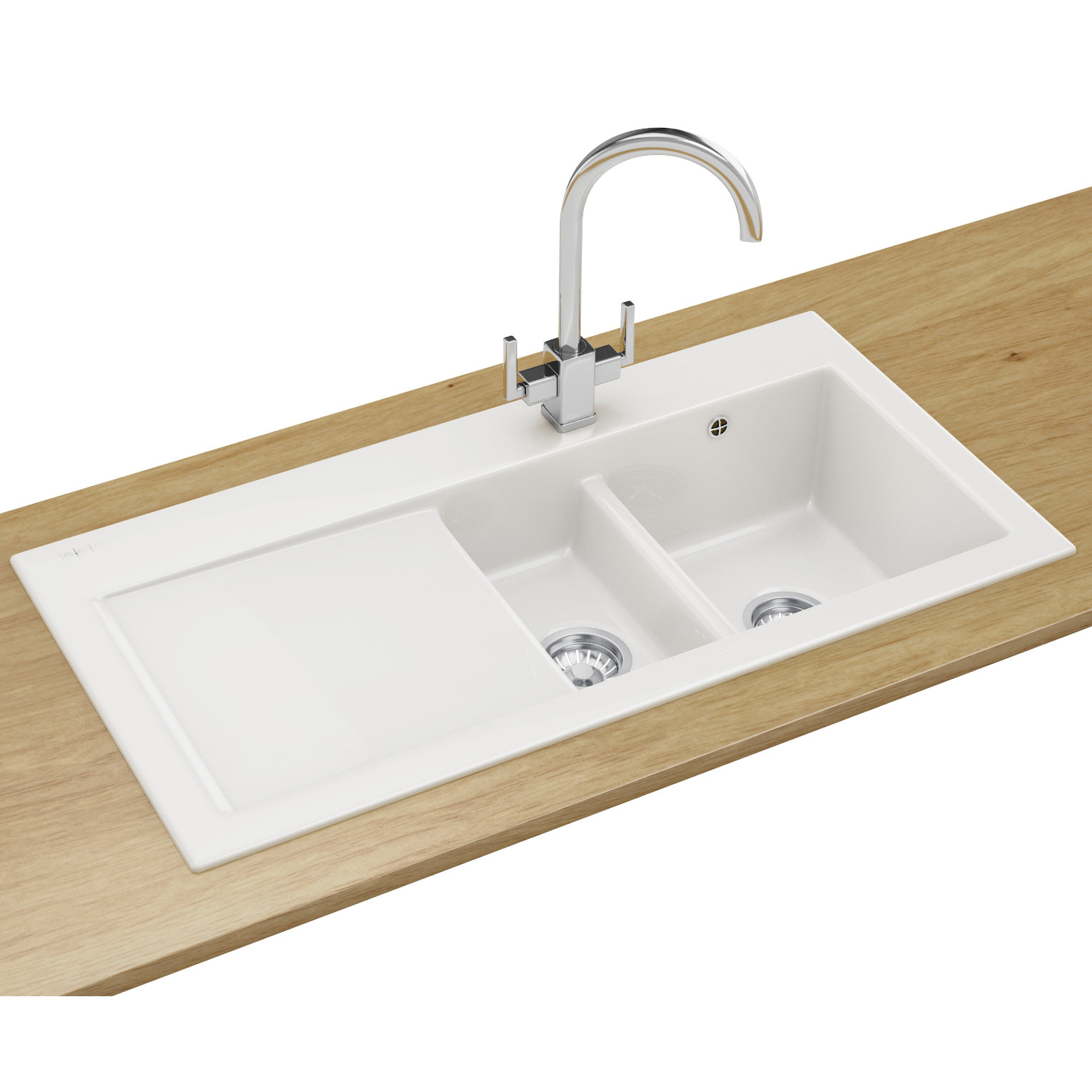 Franke Mythos Designer Pack Mtk 651 Ceramic White Sink And Tap