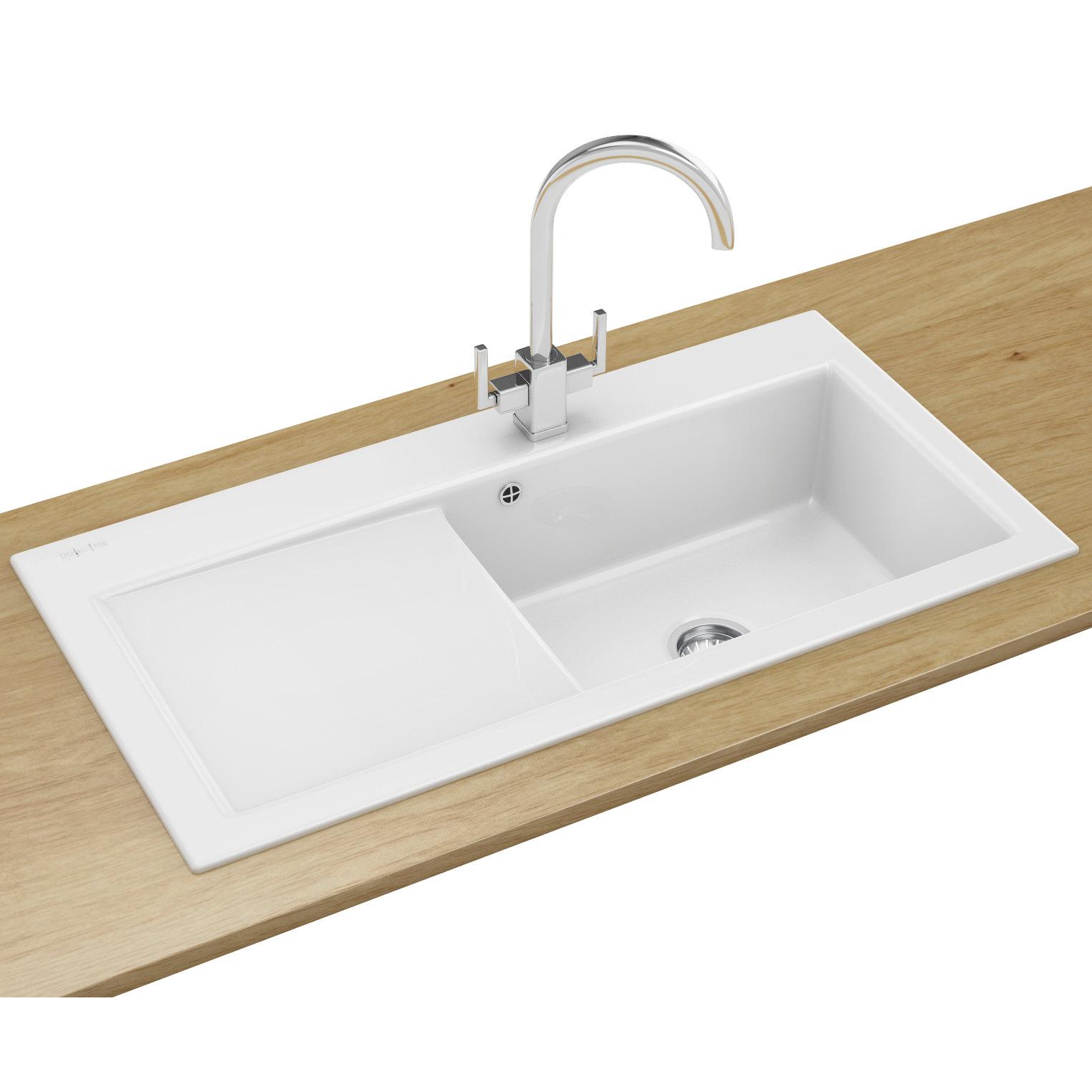 Kitchen Sink Waste White