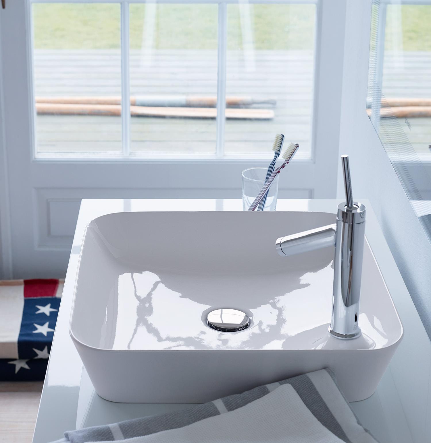 Duravit cape cod 460mm square wash bowl 2340460000 - Duravit bathroom furniture uk ...
