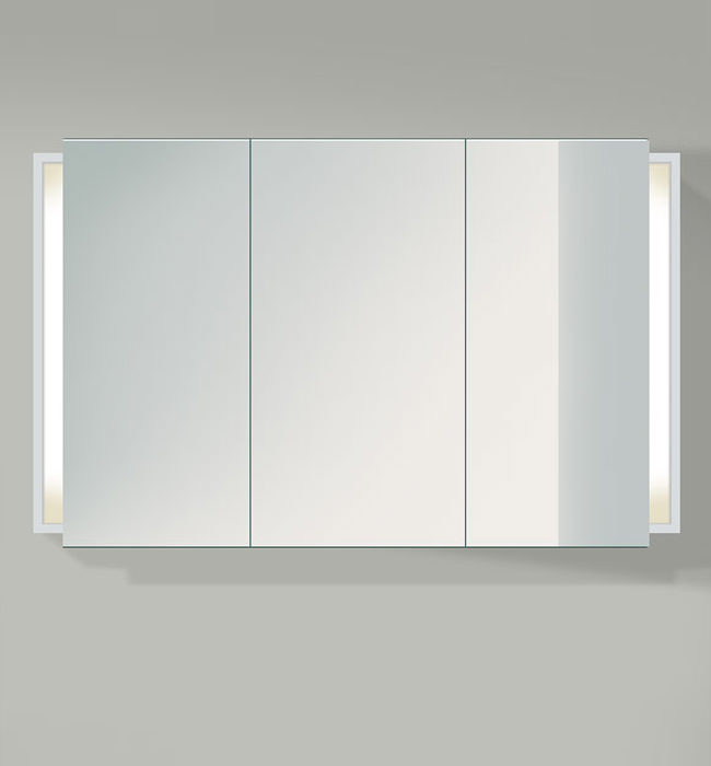 3 mirror bathroom cabinet duravit ketho 1200mm 3 door mirror cabinet kt753301818 15286