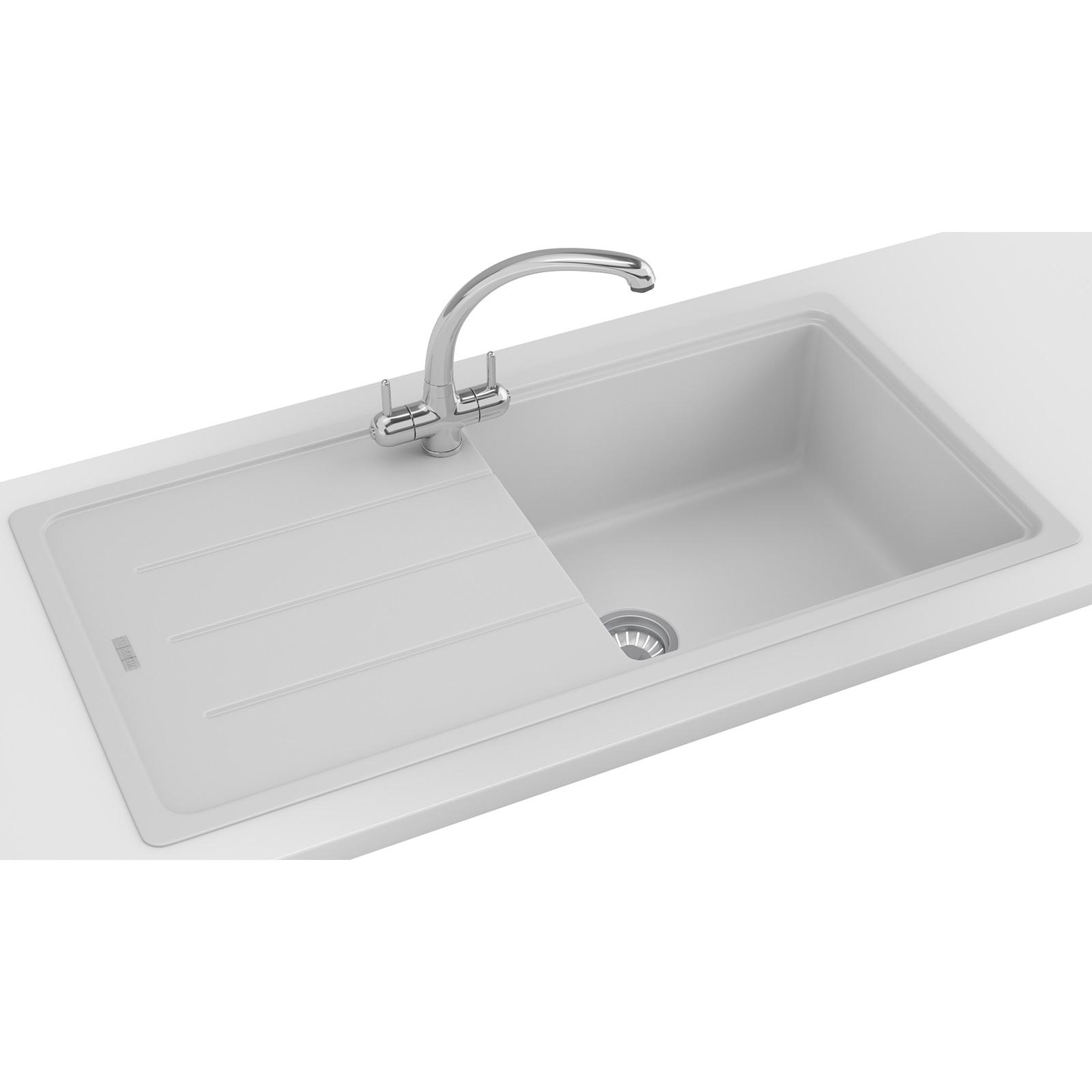 Franke basis propack bfg 611 970 fragranite polar white for Franke sinks