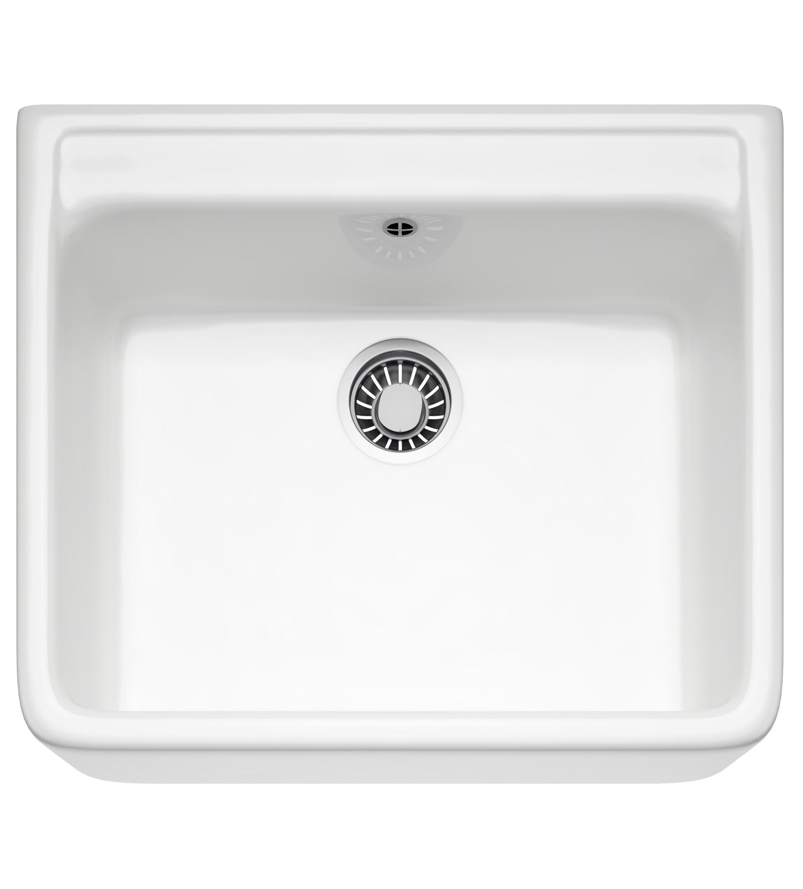franke belfast vbk 710 ceramic white 1.0 bowl kitchen sink
