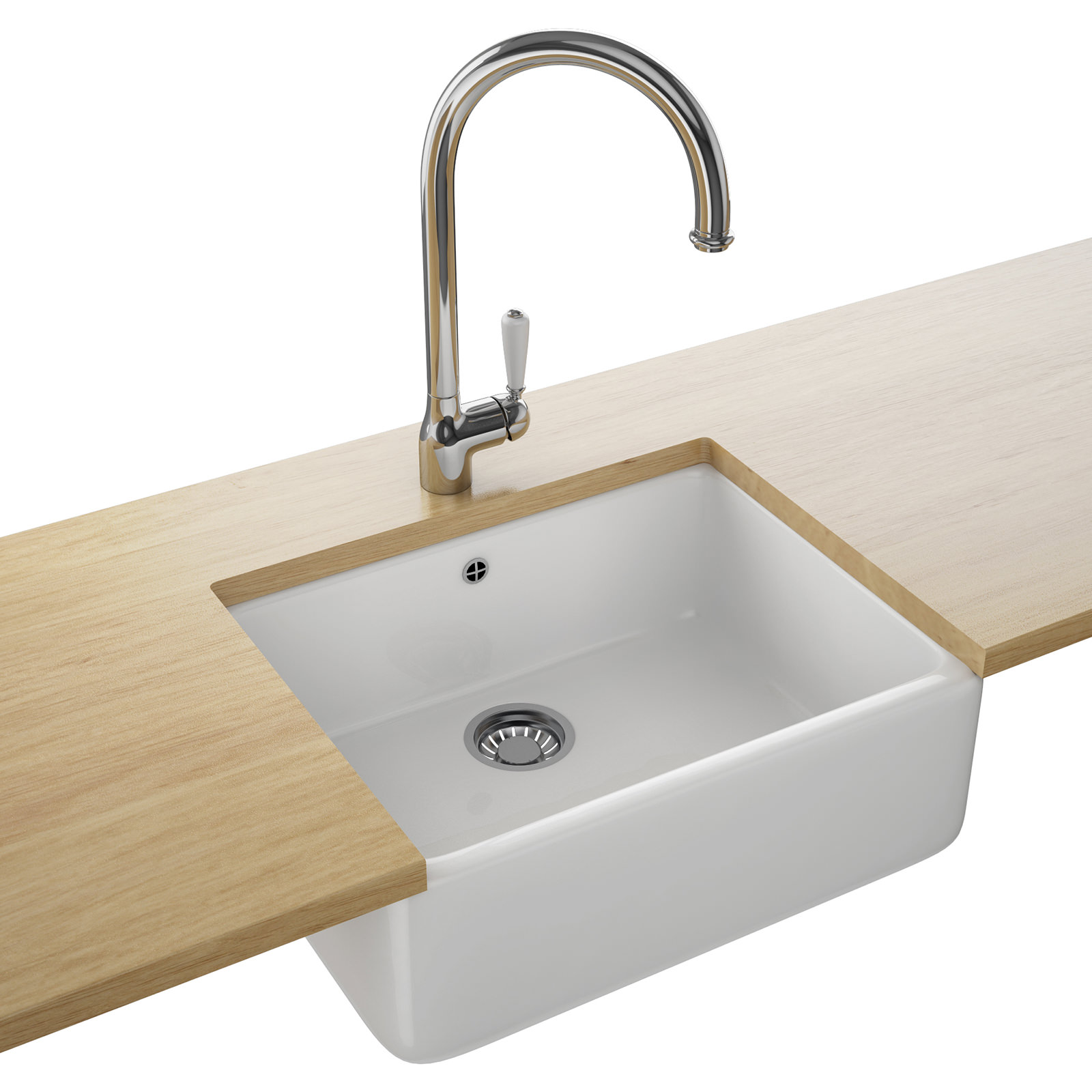 Franke belfast designer pack vbk 710 ceramic white kitchen sink and tap - Designer sink image ...