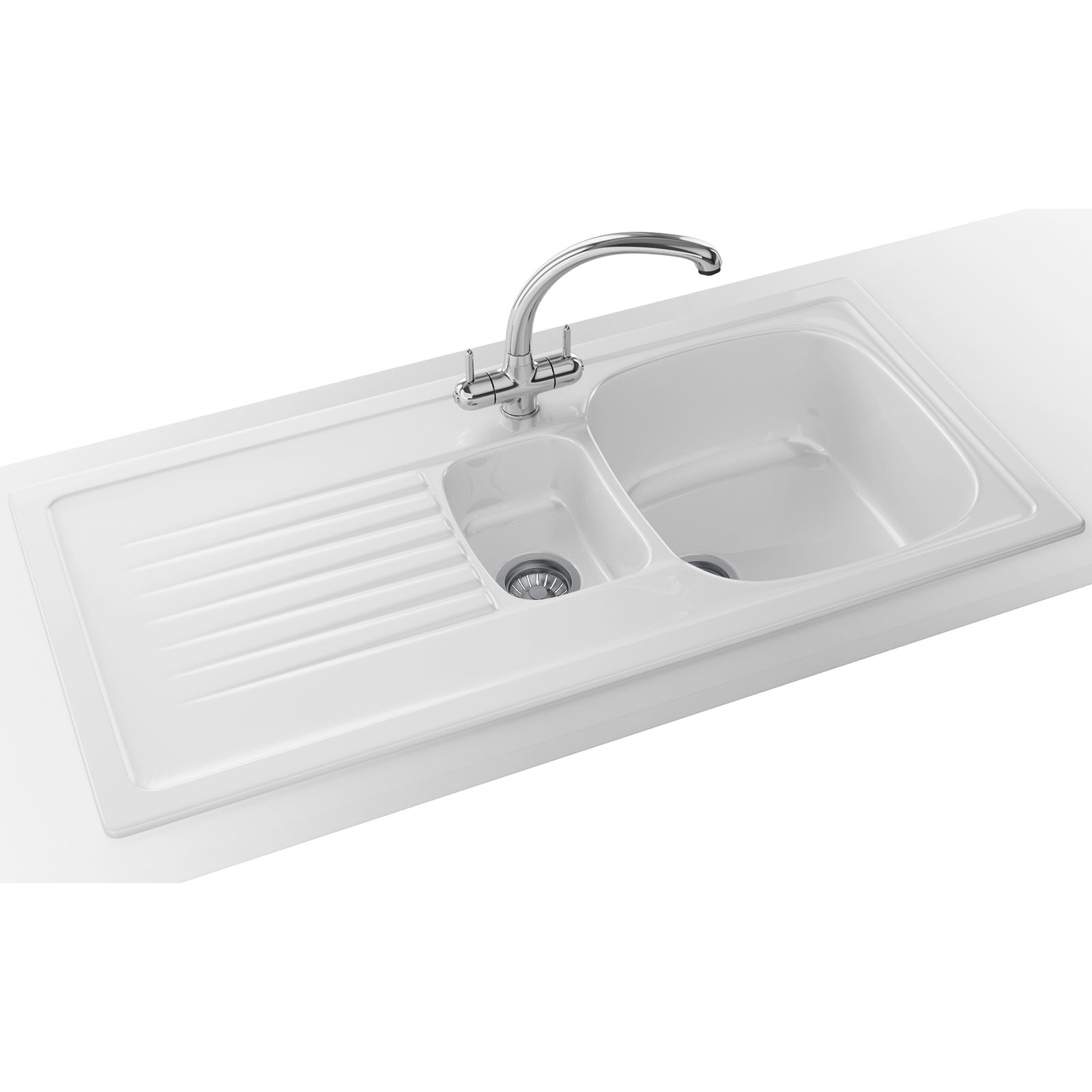 Franke Elba Propack ELK 651 Ceramic White Kitchen Inset Sink And Tap