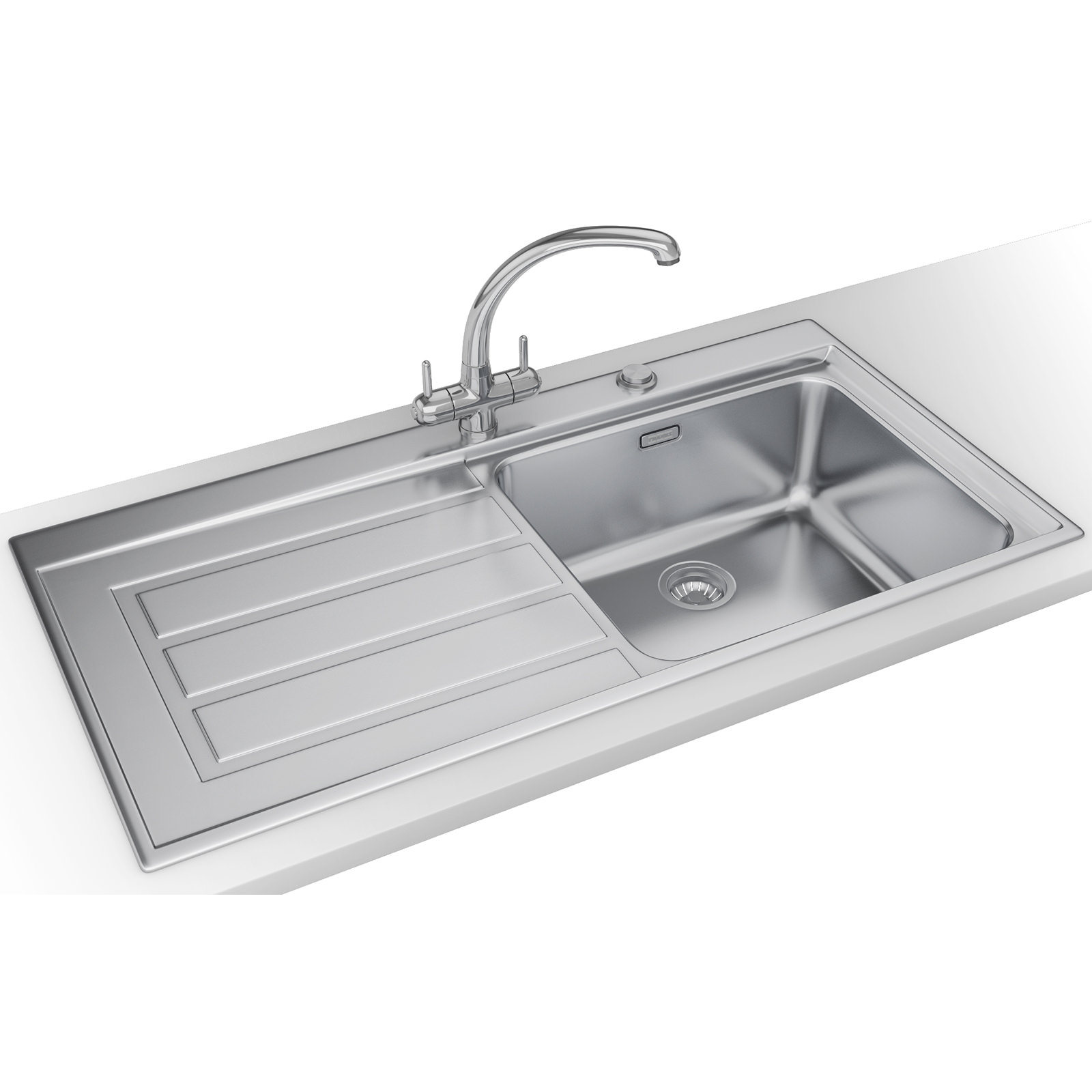 Franke Sinks And Taps : Franke Epos Propack EOX 611 Stainless Steel Kitchen Sink And Tap ...