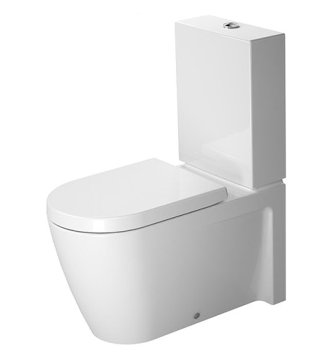 duravit starck 2 close coupled toilet with cistern 2129090000. Black Bedroom Furniture Sets. Home Design Ideas