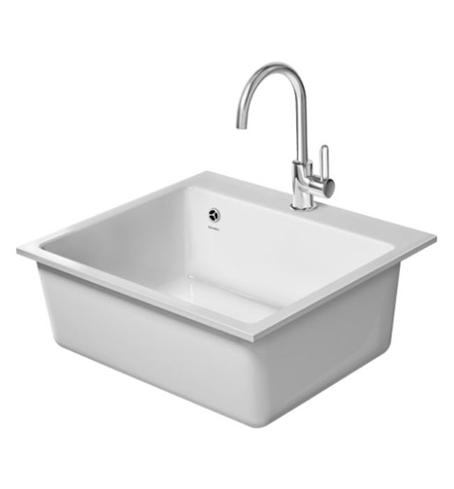 Duravit Vero Flush Mounted 60F XL 555 x 510mm Kitchen Sink ...