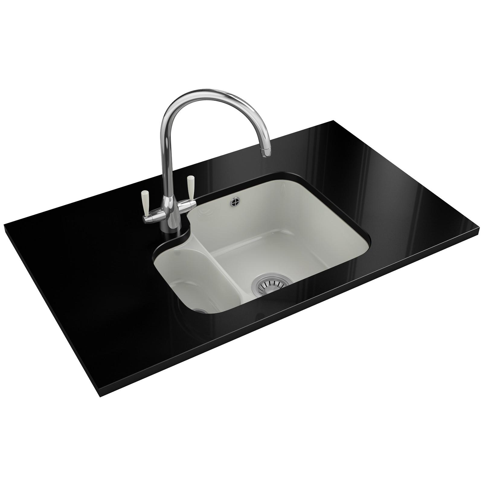 Franke V And B VBK 160 Ceramic White 1 5 Bowl Undermount Sink