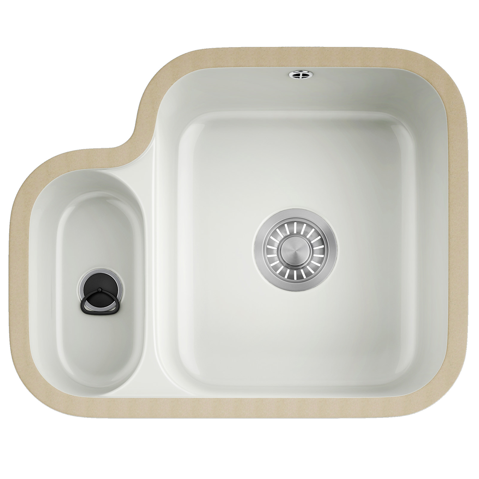 Franke V And B VBK 160 Ceramic White 1.5 Bowl Undermount Sink ...
