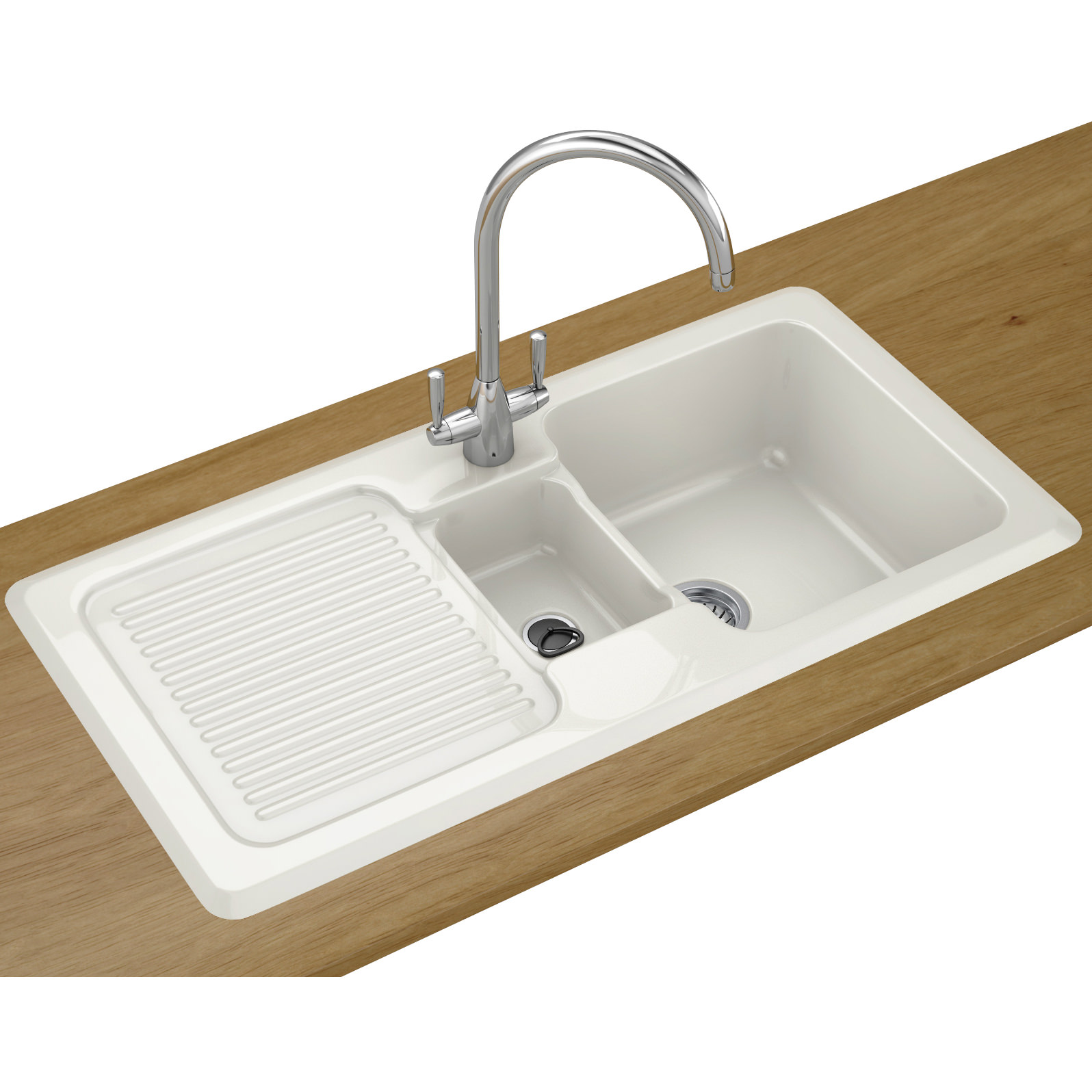Franke V And B Vbk 651 Ceramic White 1 5 Bowl Inset Sink