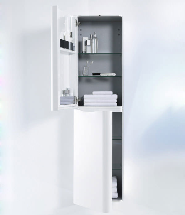 Duravit puravida 460 x 1800mm white tall cabinet pv9206l8585 for Bathroom cabinets 1800mm