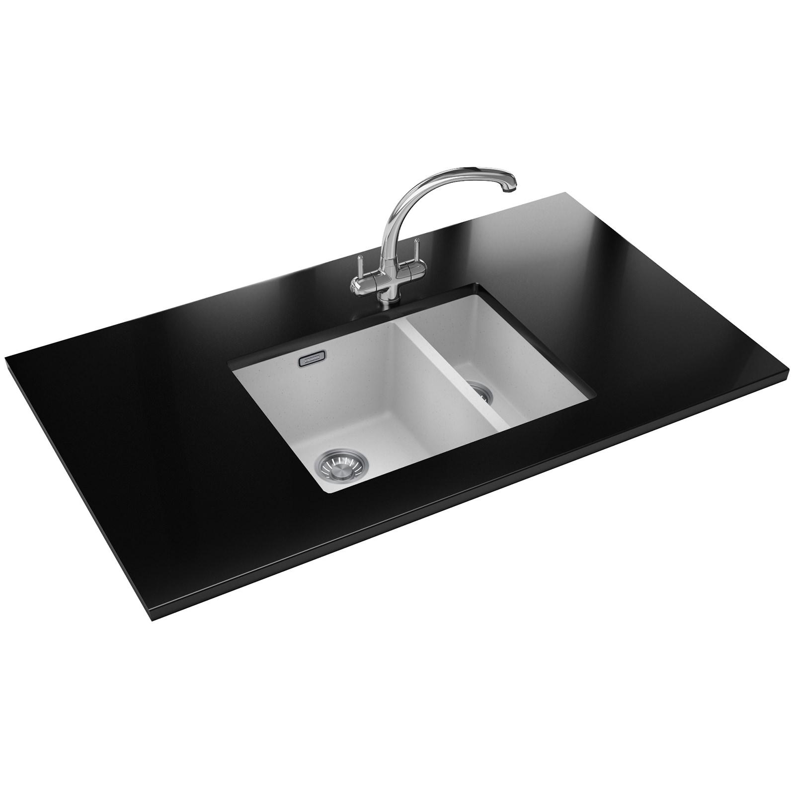 Franke Sirius Propack SID 160 Tectonite Polar White Kitchen Sink And Tap ...