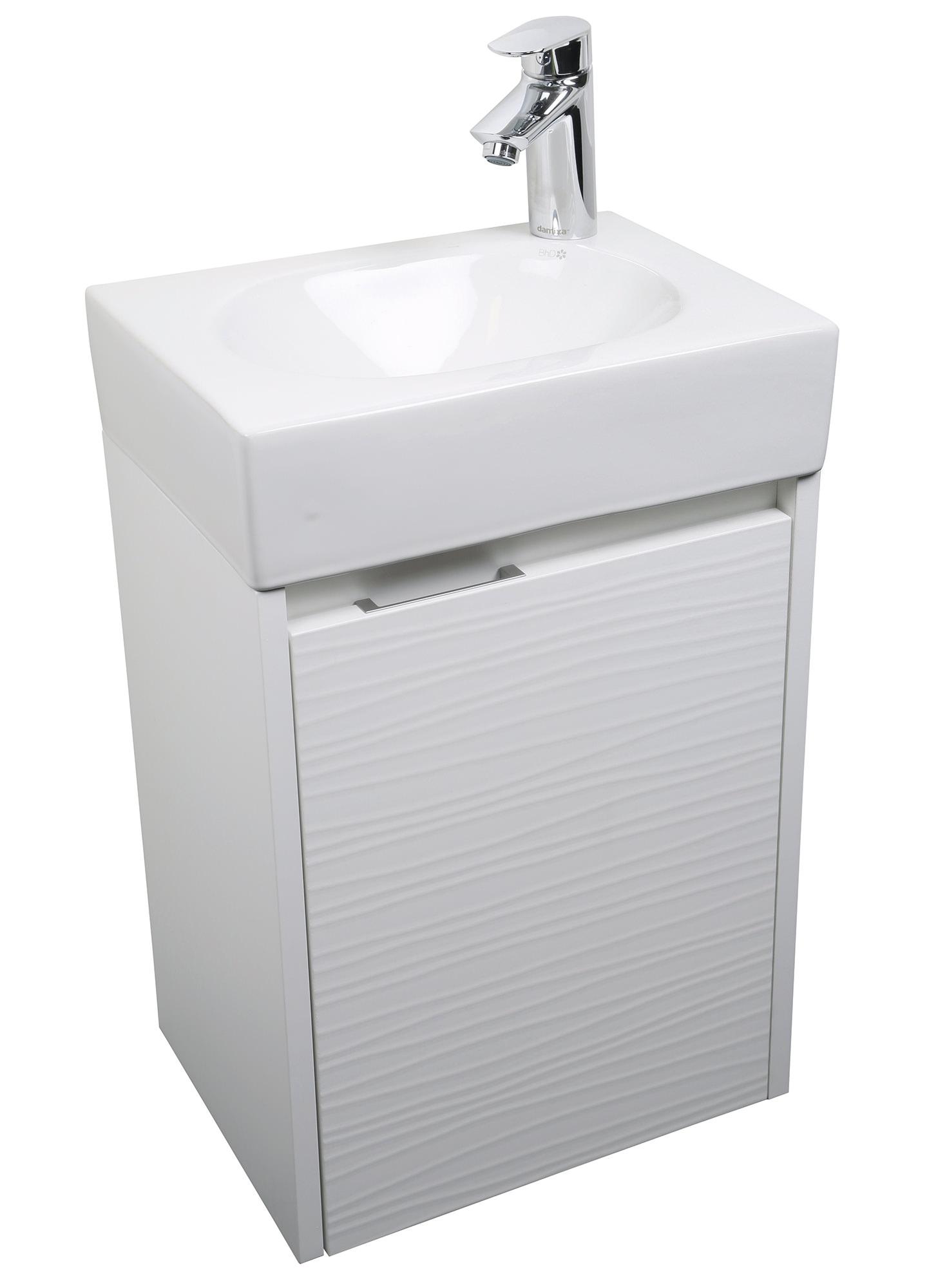 Croydex Beaulieu White Vanity Unit And Mirror Set Wc410122e