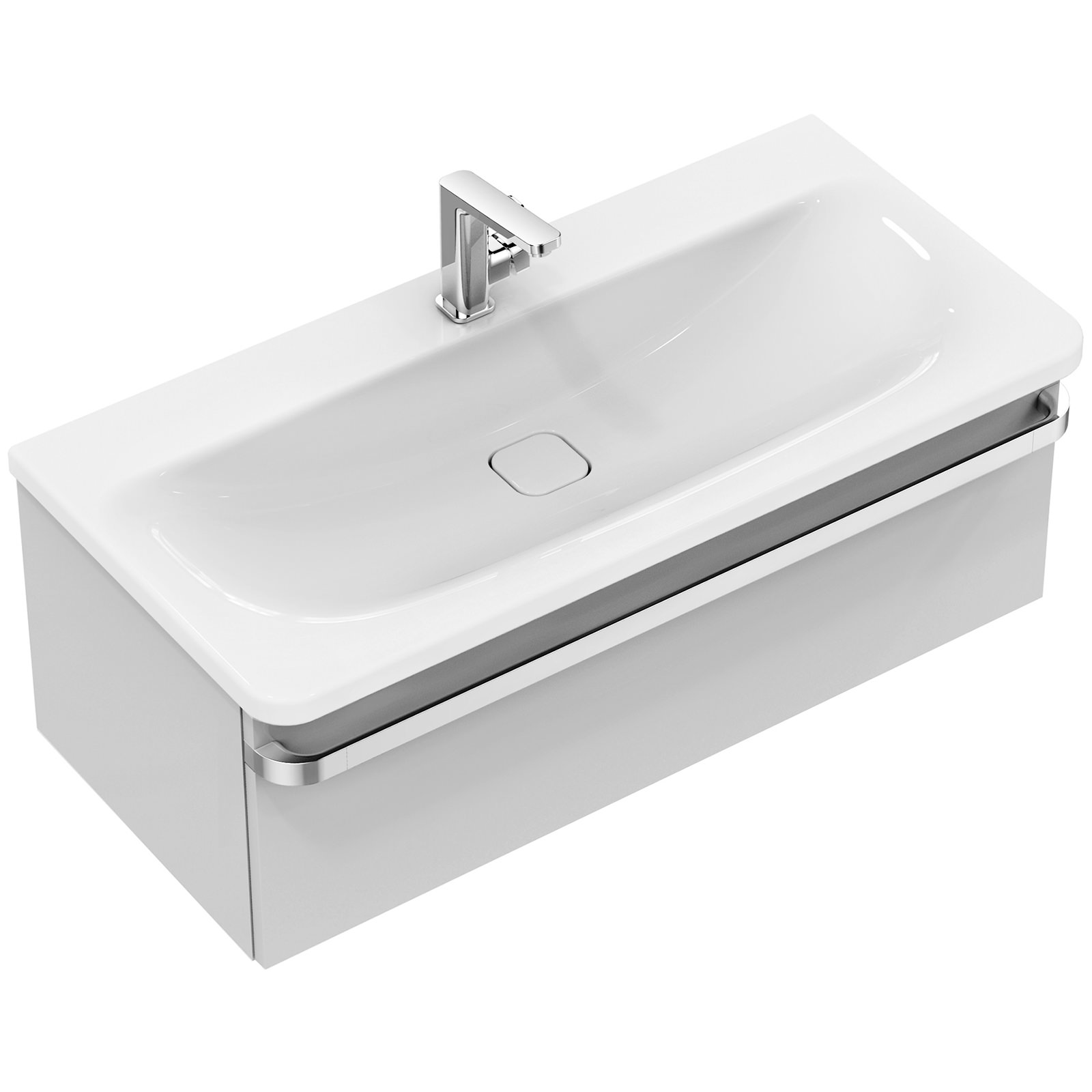 Ideal standard tonic ii 1000mm 1 drawer washbasin unit for 1000mm kitchen drawer unit