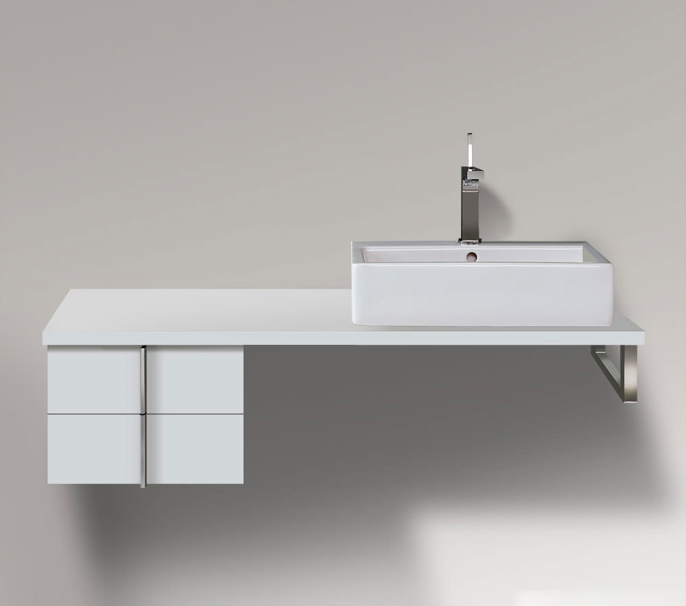 duravit cabinets bathrooms duravit vero 400 x 518mm 2 drawer cabinet for console 12751