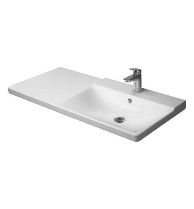 duravit p3 comforts 1050mm bowl on right asymmetric basin 233410. Black Bedroom Furniture Sets. Home Design Ideas
