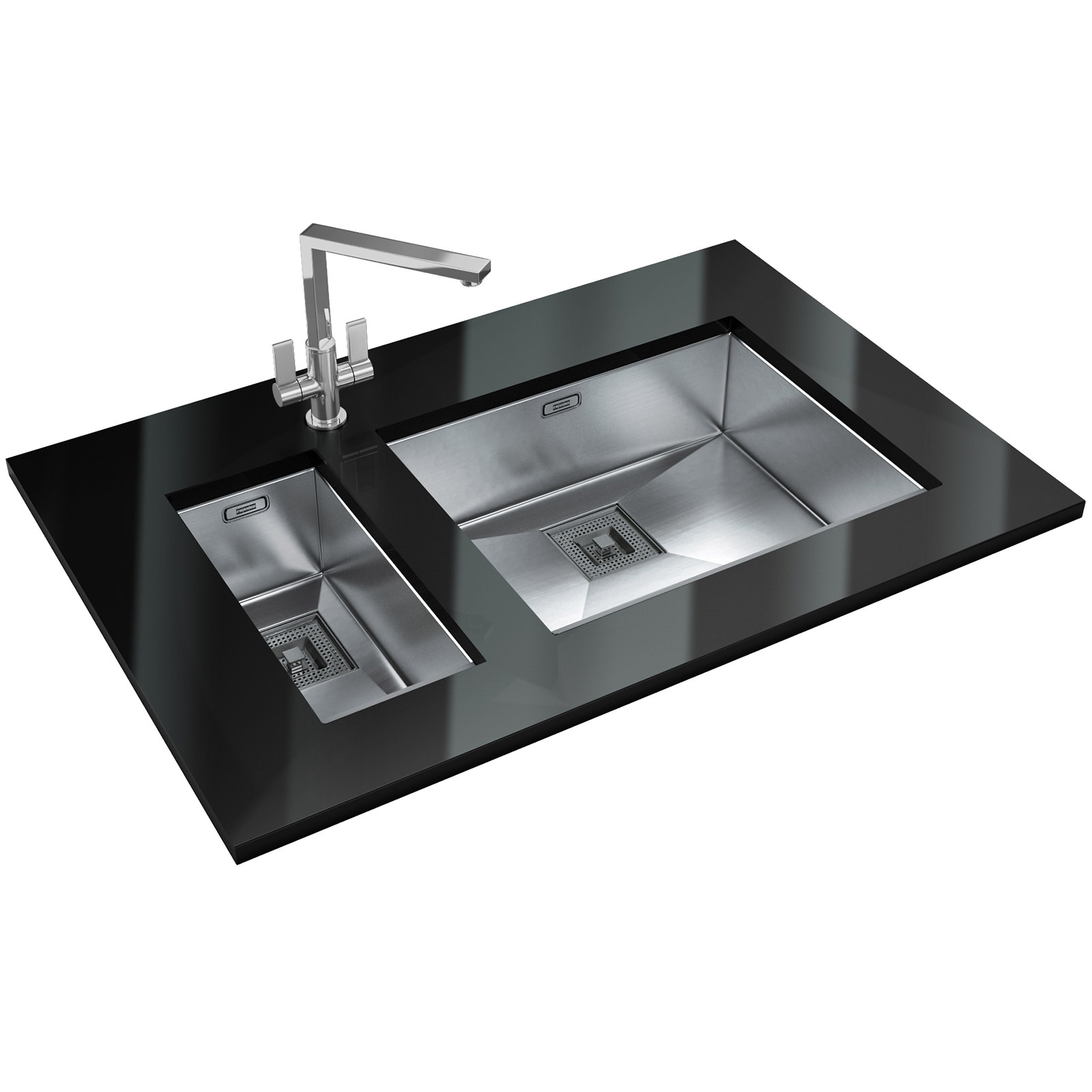 Franke Peak PKX 110 55 Stainless Steel 1.0 Bowl Undermount Sink ...
