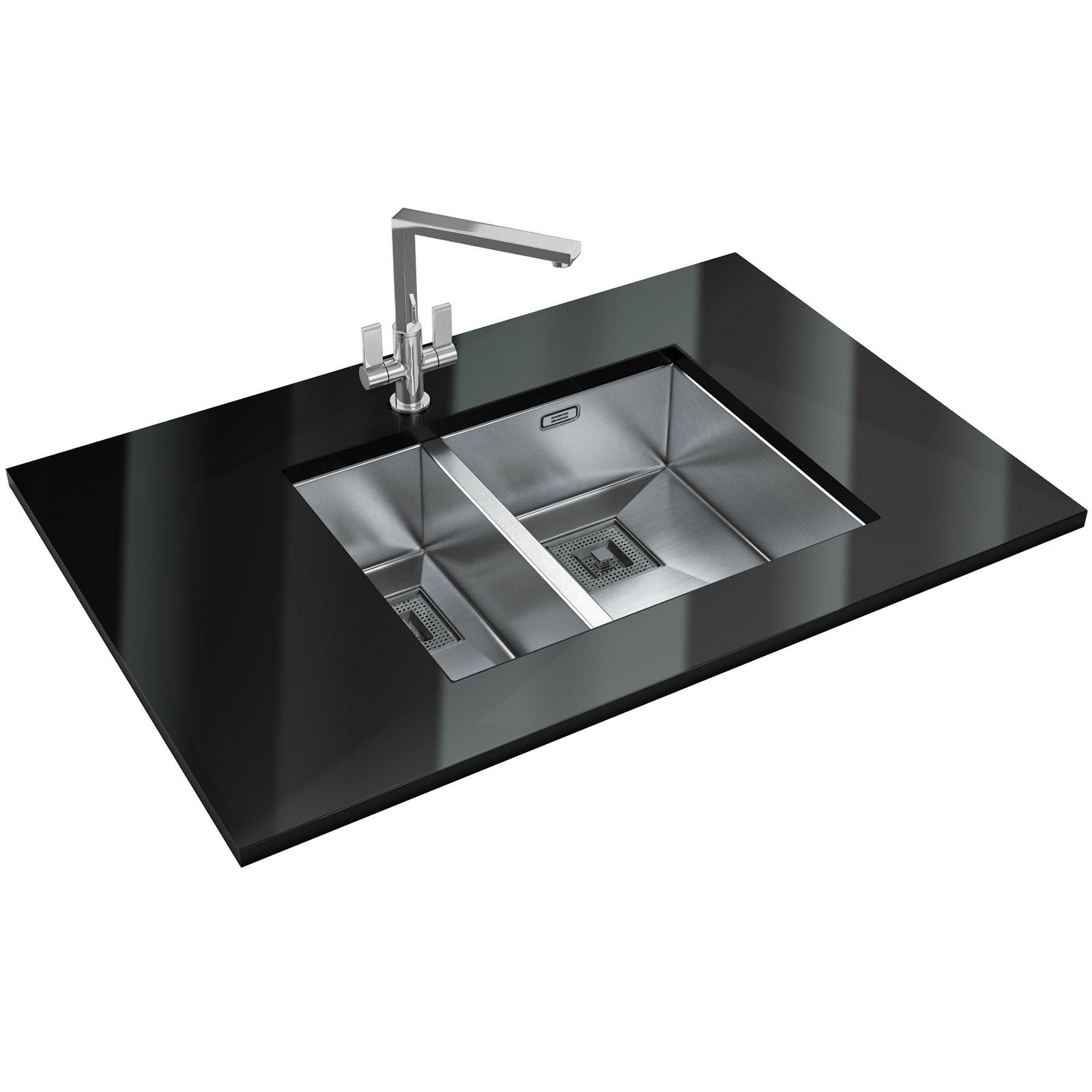 Franke Peak DP PKX 160 34-18 Stainless Steel Sink And Tap 1220156173