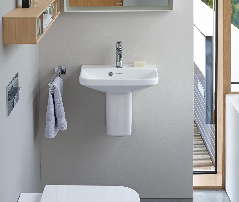 duravit p3 comforts 450mm 1 taphole handrinse basin 0716450000. Black Bedroom Furniture Sets. Home Design Ideas