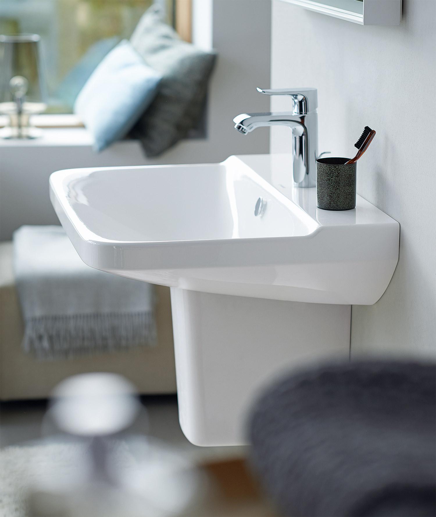 duravit p3 comforts 550mm 1 taphole washbasin 2331550000. Black Bedroom Furniture Sets. Home Design Ideas