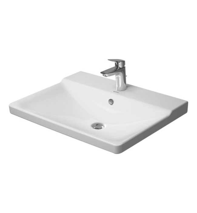 Duravit p3 comforts 650mm furniture washbasin 2332650000 - Duravit bathroom furniture uk ...