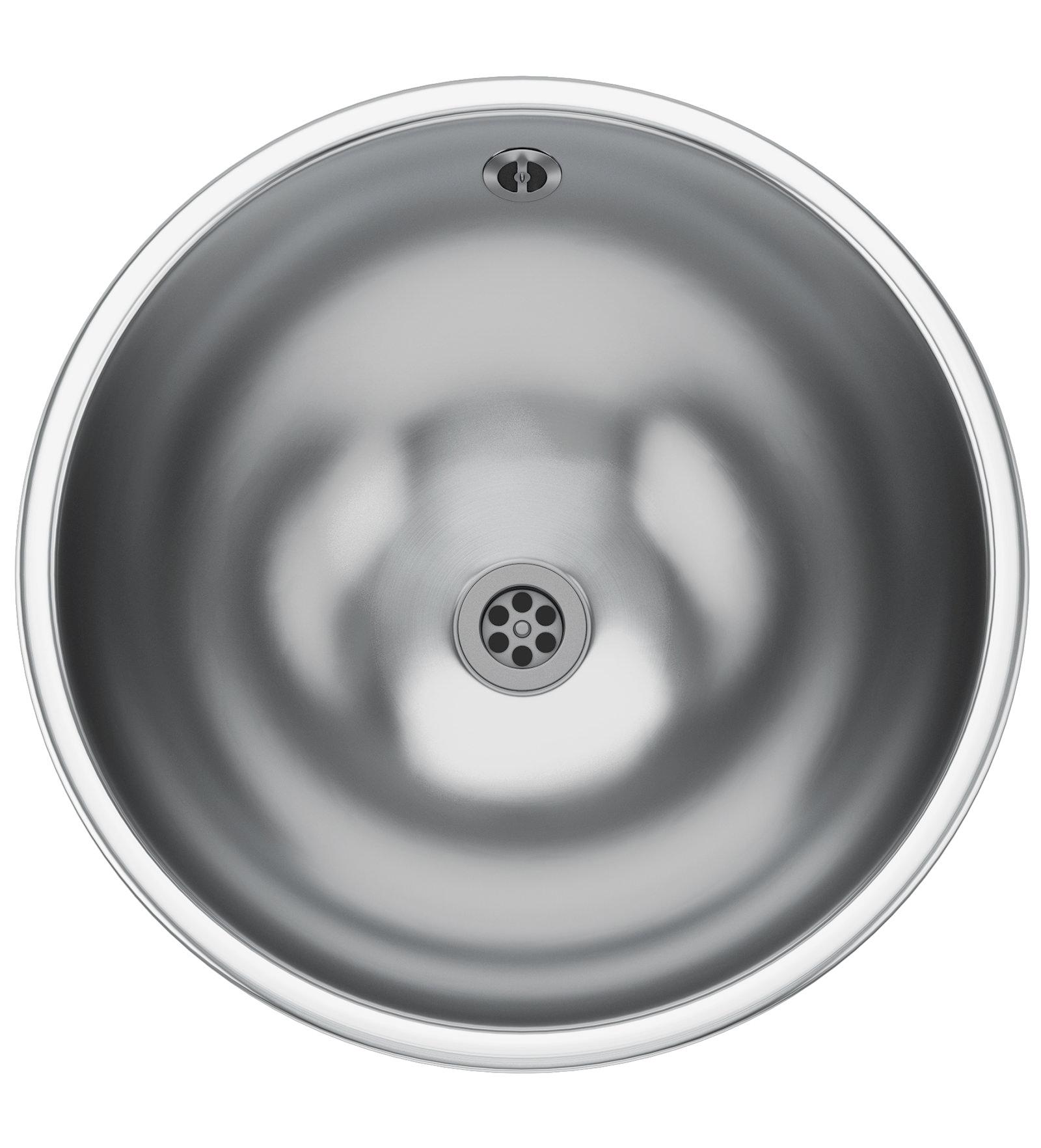 Franke Round Sink : ... sink franke rondo rnx 610 1 0 bowl stainless steel kitchen inset sink