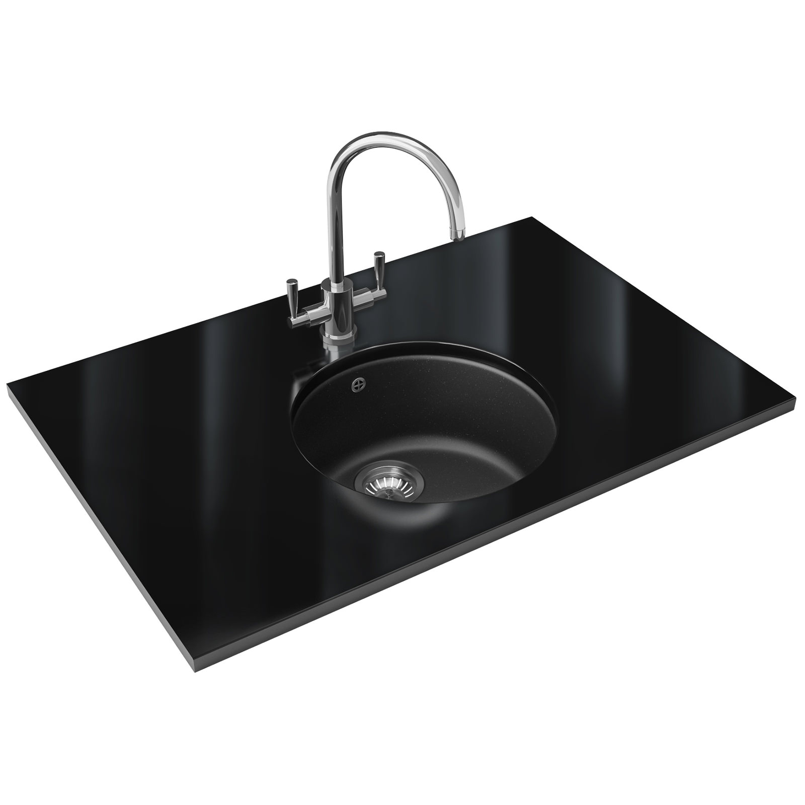 Franke Fragranite Undermount Sink : Franke Rotondo RUG 110 Fragranite Graphite 1.0 Bowl Undermount Sink ...