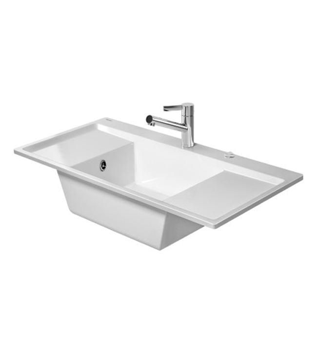 Flush Kitchen Sink : Duravit Kiora 60 Z Central Bowl Flush Mount Kitchen Sink - 7522100027