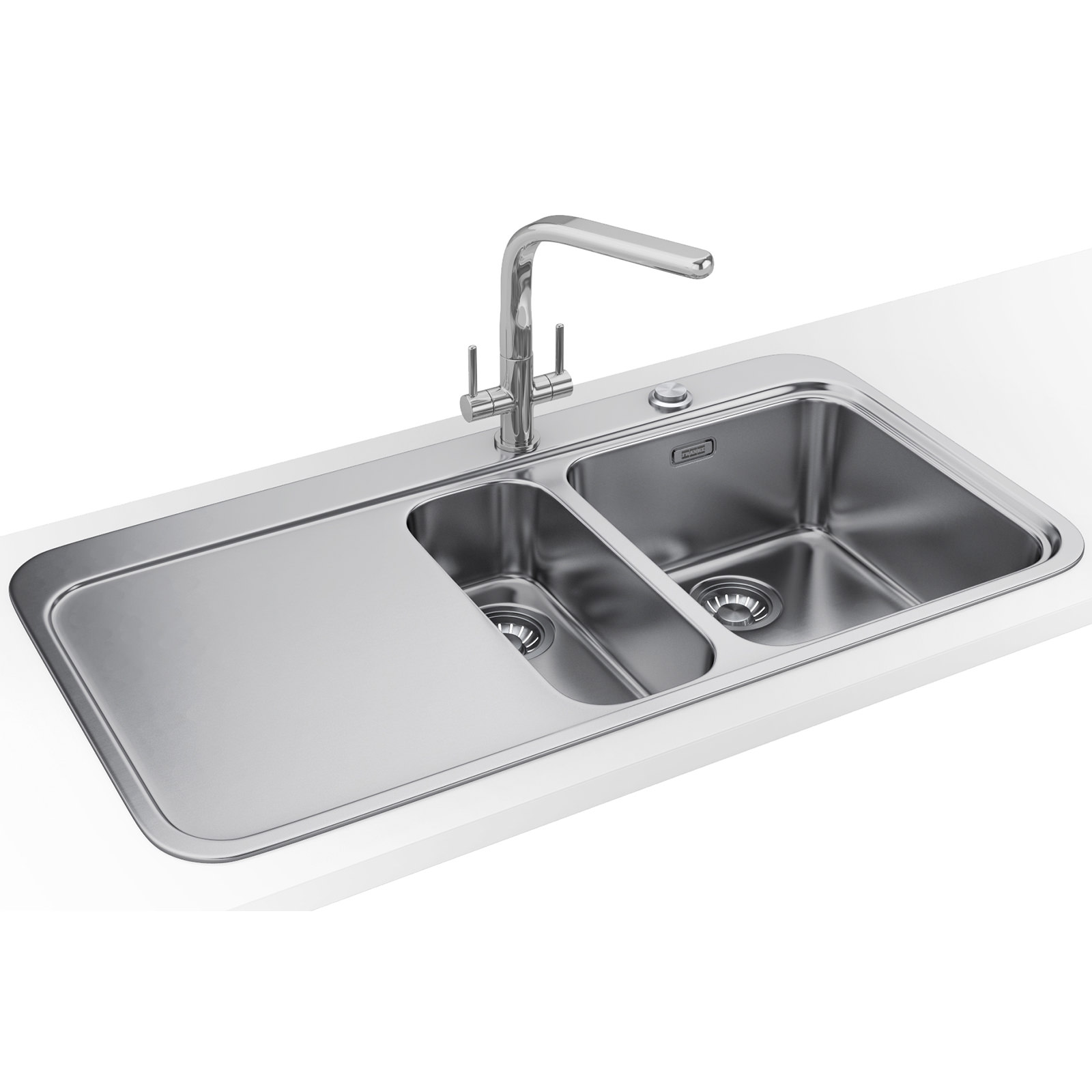 Franke Sinos Dp Snx 251 1 5 Bowl Stainless Steel Sink And Tap 1270364684