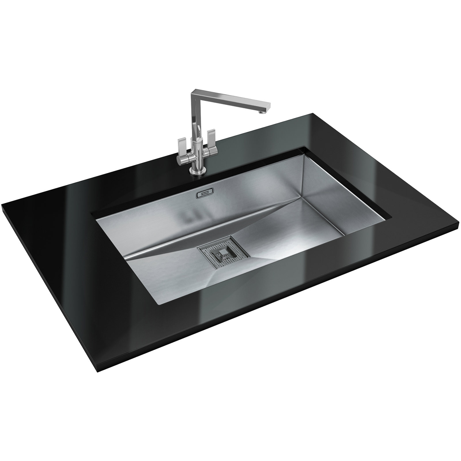Franke peak designer pack pkx 110 70 stainless steel sink for Designer stainless steel sinks