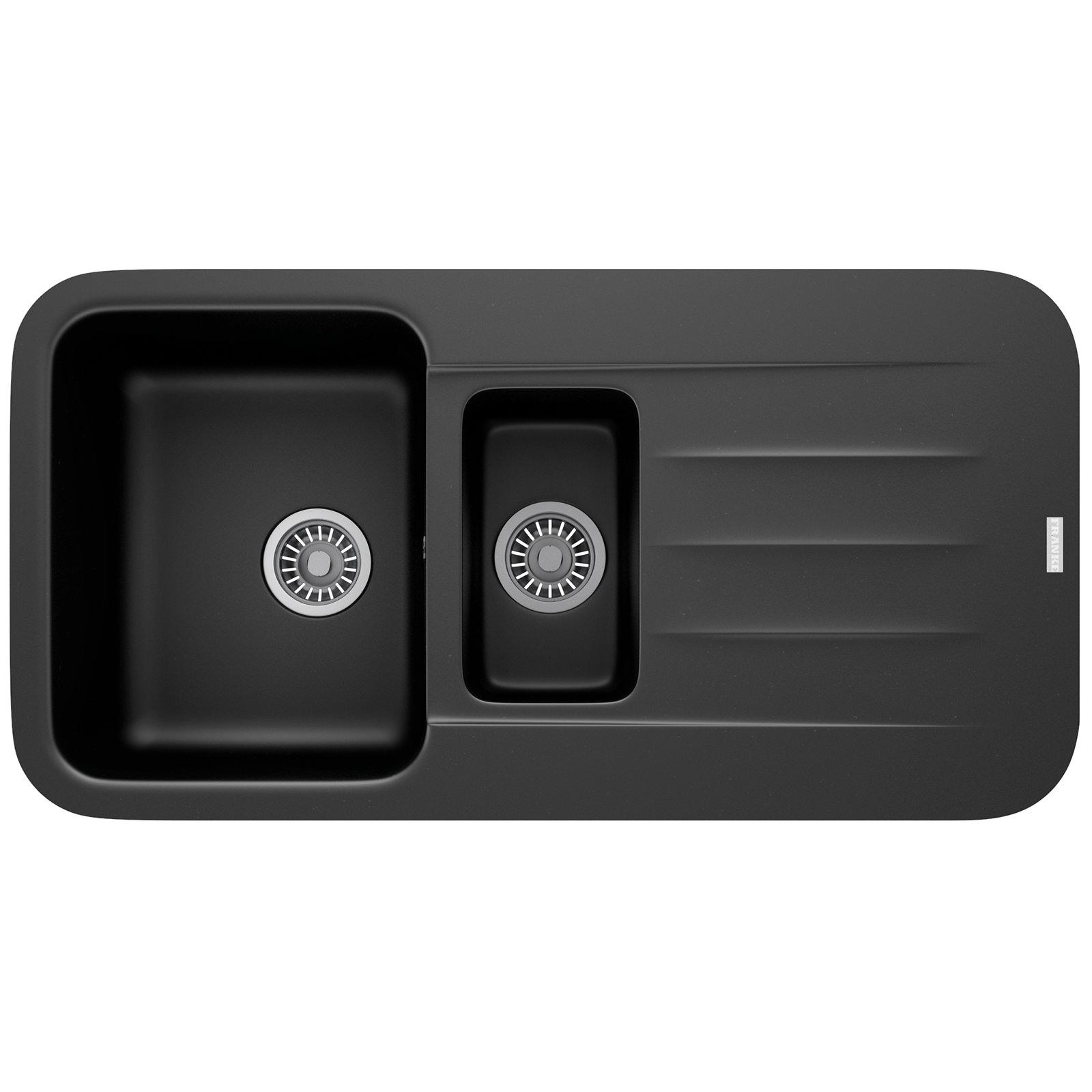 Franke 651 Sink : Franke Pebel PBG 651 Fragranite Onyx 1.5 Bowl Inset Sink 114.0251 ...
