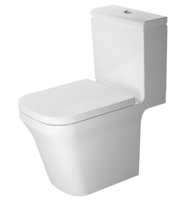 duravit p3 comforts rimless close coupled toilet with. Black Bedroom Furniture Sets. Home Design Ideas