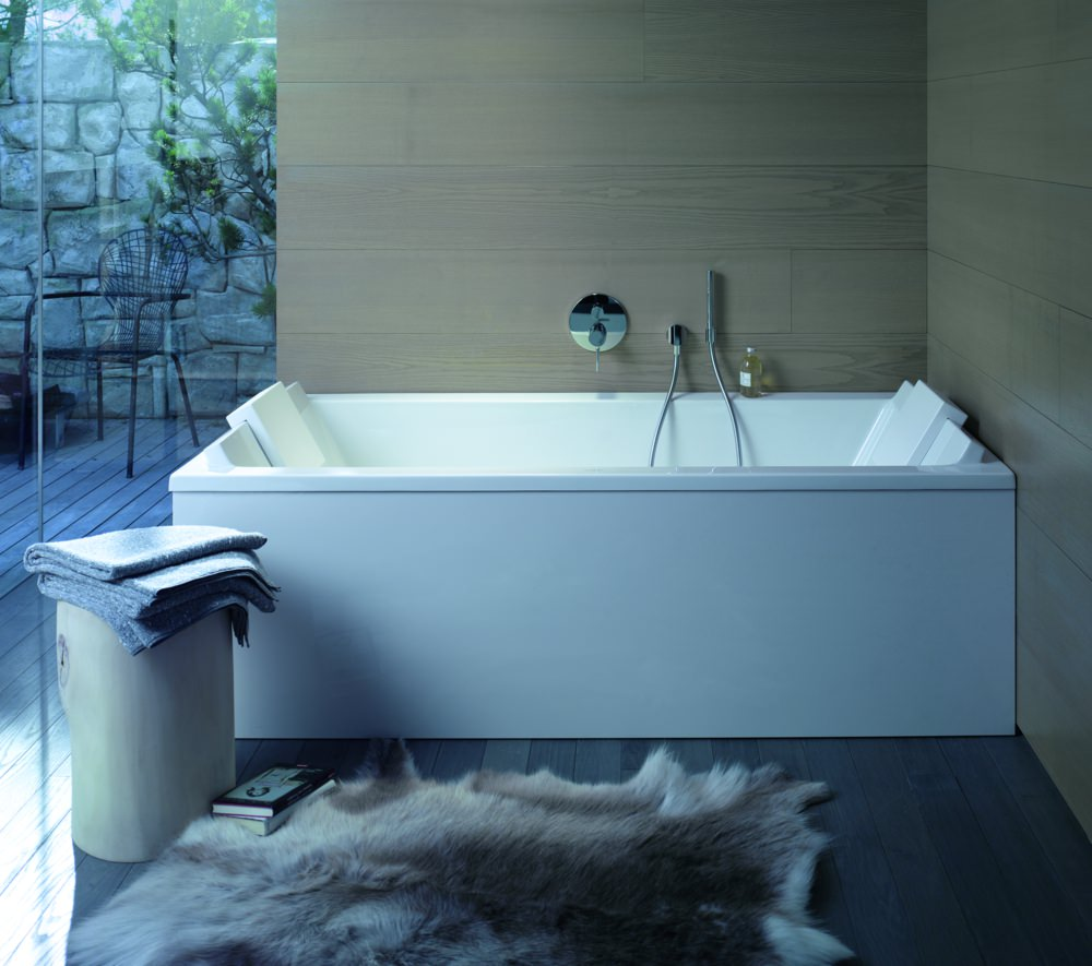 Duravit starck rectangular bath 1800 x 900mm with support for Bath 1800