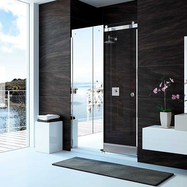 Merlyn 10 Series 1400mm Mirror Sliding Shower Door