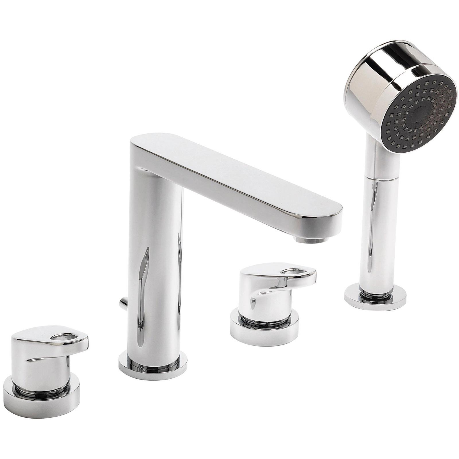 Sagittarius Vento 4 Hole Deck Mounted Bath Shower Mixer Tap