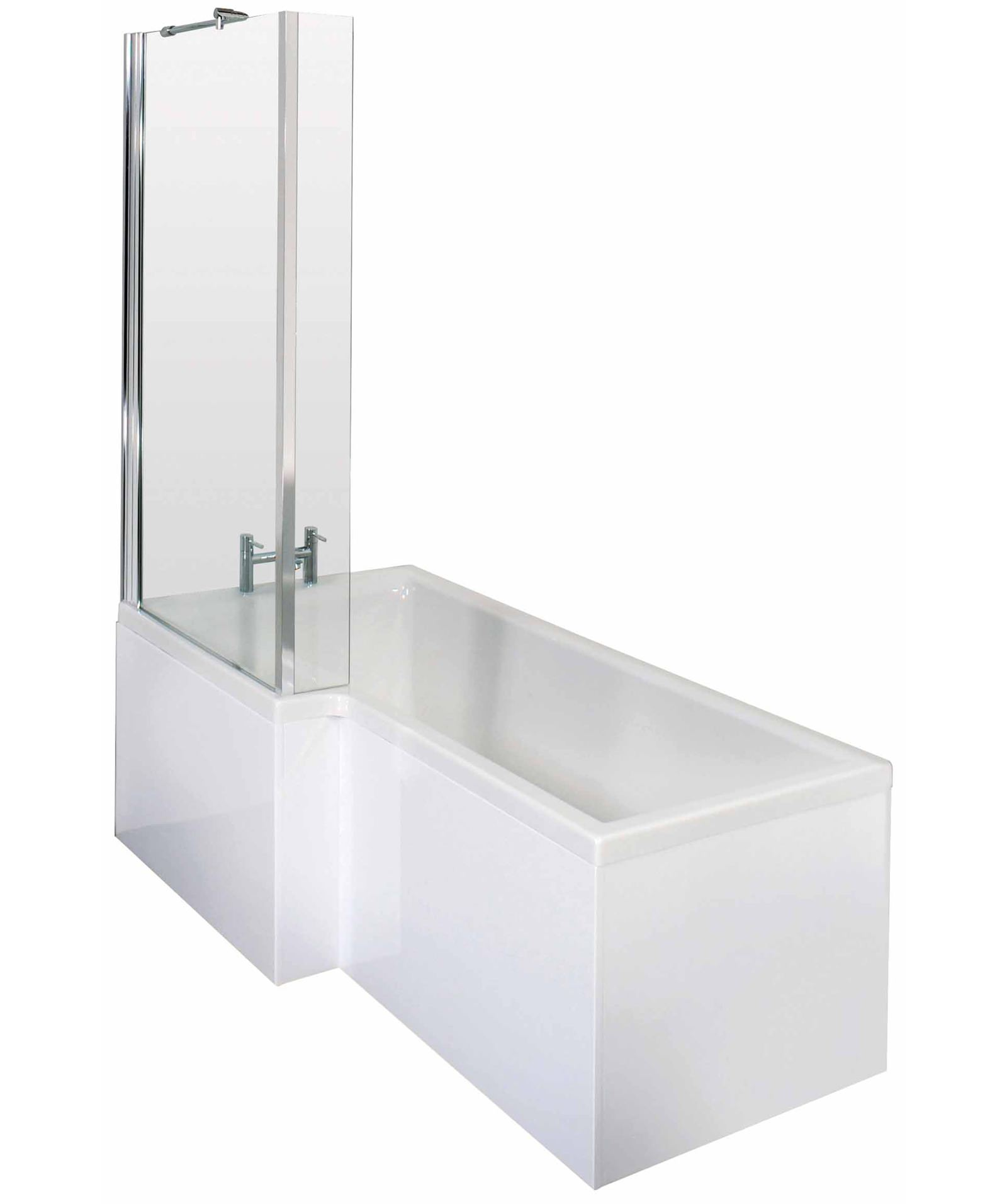 Premier Square 1700 X 850mm Left Hand Acrylic Shower Bath