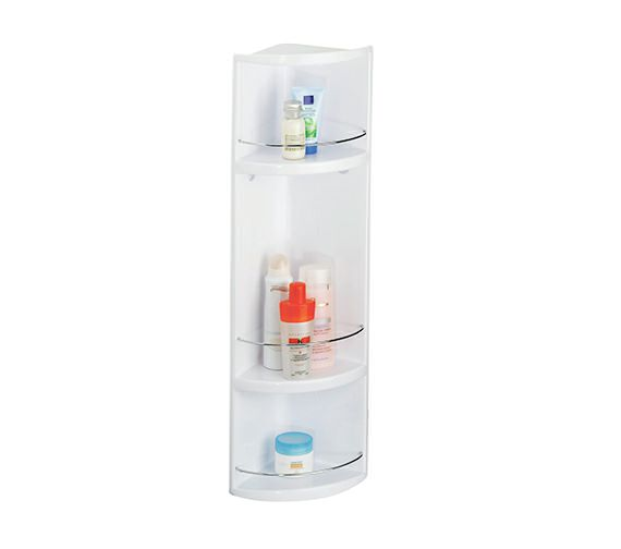 Croydex Essentials Compact 3 Tier Abs Corner Bathroom Storage Unit