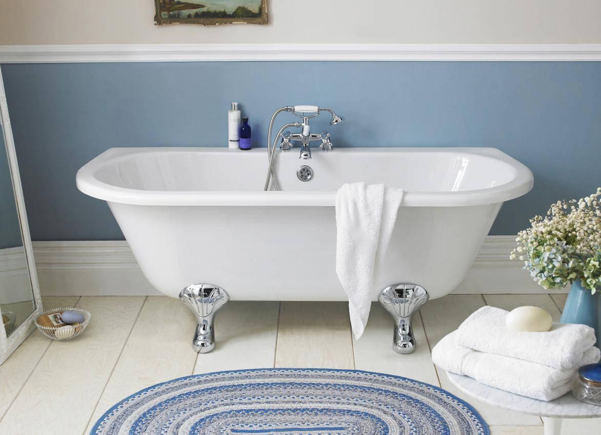 Lauren 1700 X 745mm Back To Wall Freestanding Acrylic Bath