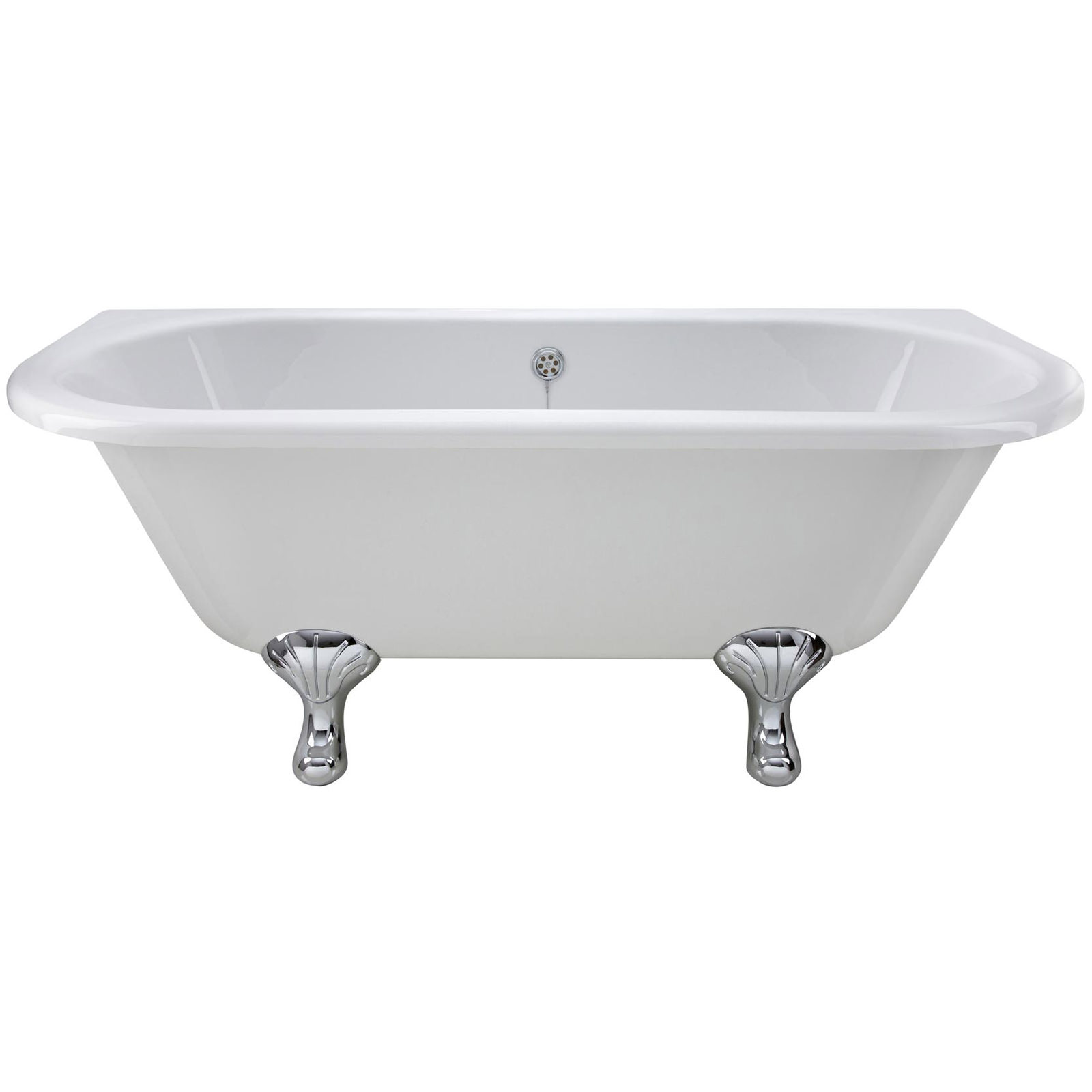 Small Back To Wall Bath Part - 32: Lauren 1700 X 745mm Back-To-Wall Freestanding Acrylic Bath With Corbel Legs