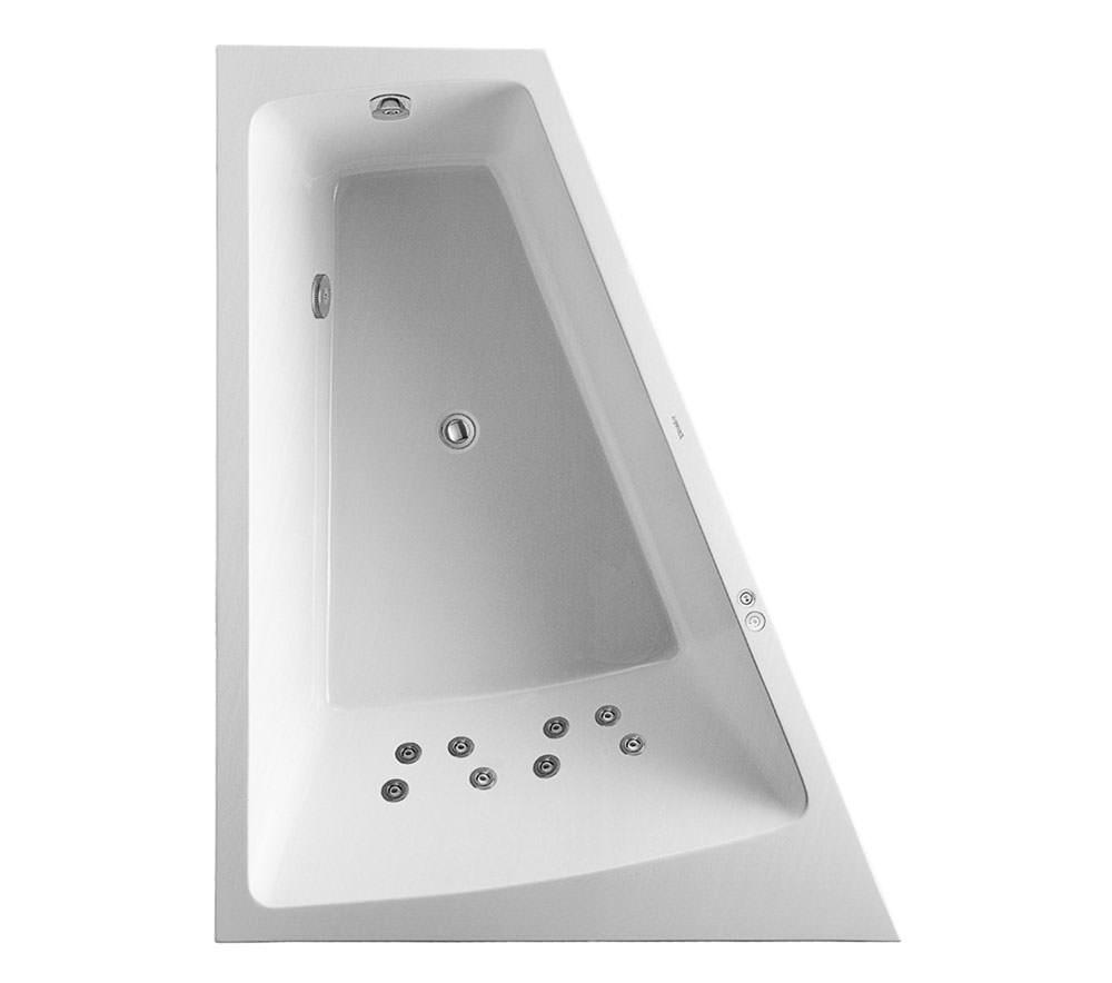 duravit paiova 1800x1400mm left slope bath with panel jet system 760268. Black Bedroom Furniture Sets. Home Design Ideas