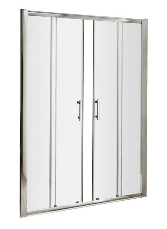 Beo framed 1700 x 1850mm double sliding shower door for 1700 shower door
