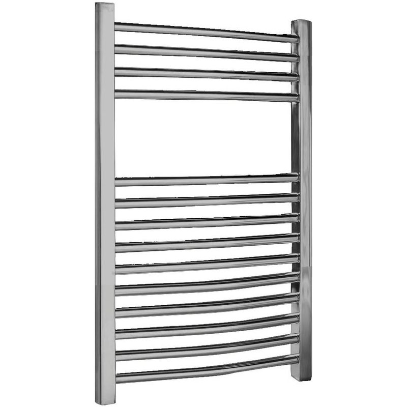 Heated Towel Rail Height From Floor: Premier Curved 500mm Width Multirail Heated Towel Rail
