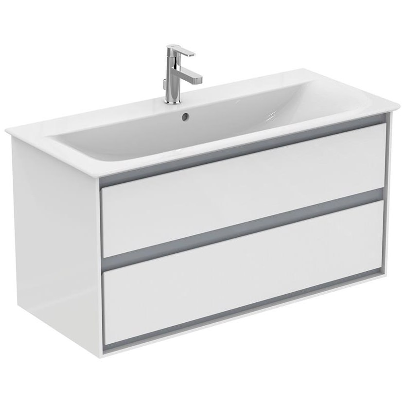 Ideal standard concept air 1000mm wall hung 2 drawers for 1000mm kitchen drawer unit