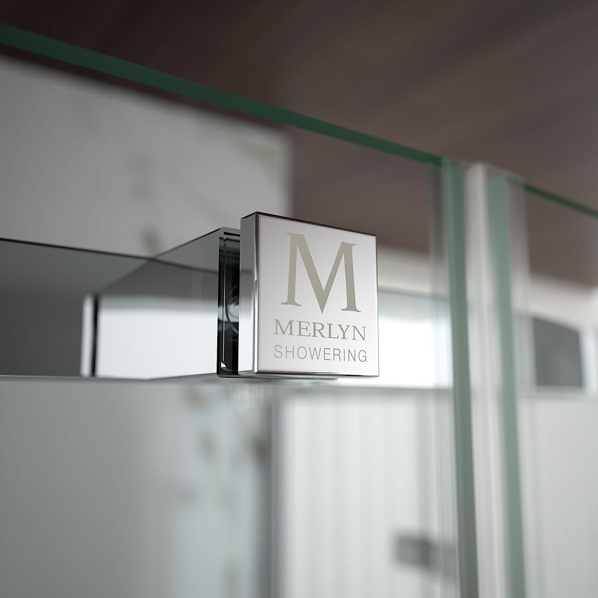 Merlyn 8 series frameless hinge and inline door 1000mm for 1000mm door