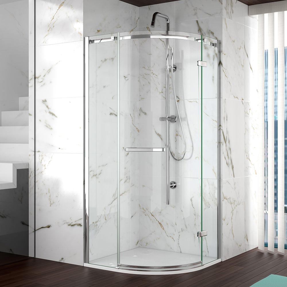 Merlyn 8 Series Frameless 1 Door Shower Quadrant 1000mm