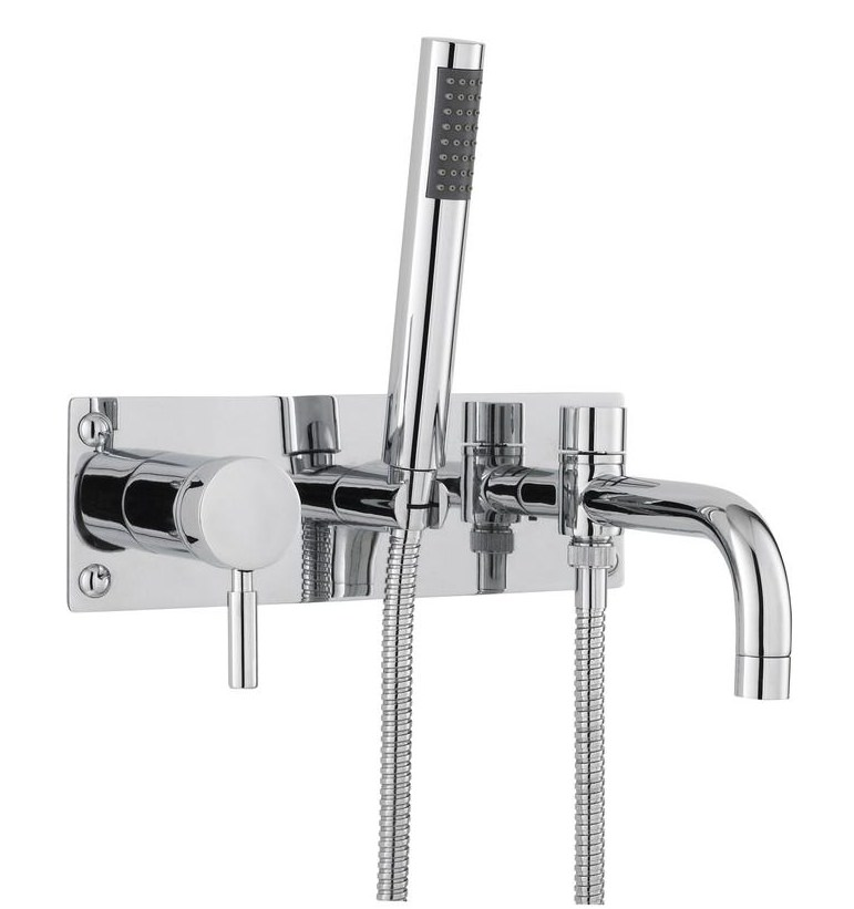 Hudson Reed Twirl Wall Mounted Bath Shower Mixer Tap With