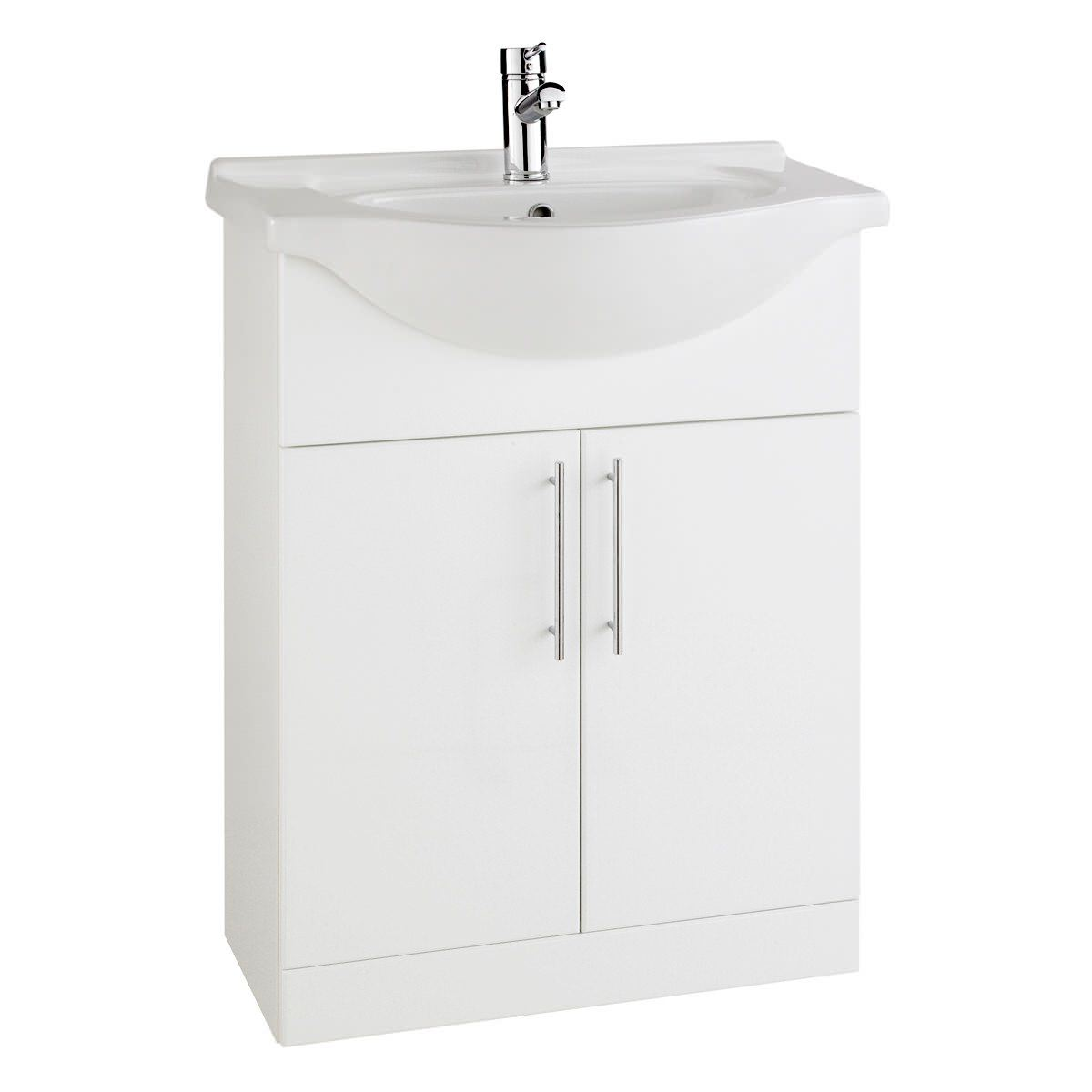 Aqva New York White Vanity Unit And Basin 650mm RWF65UNIT