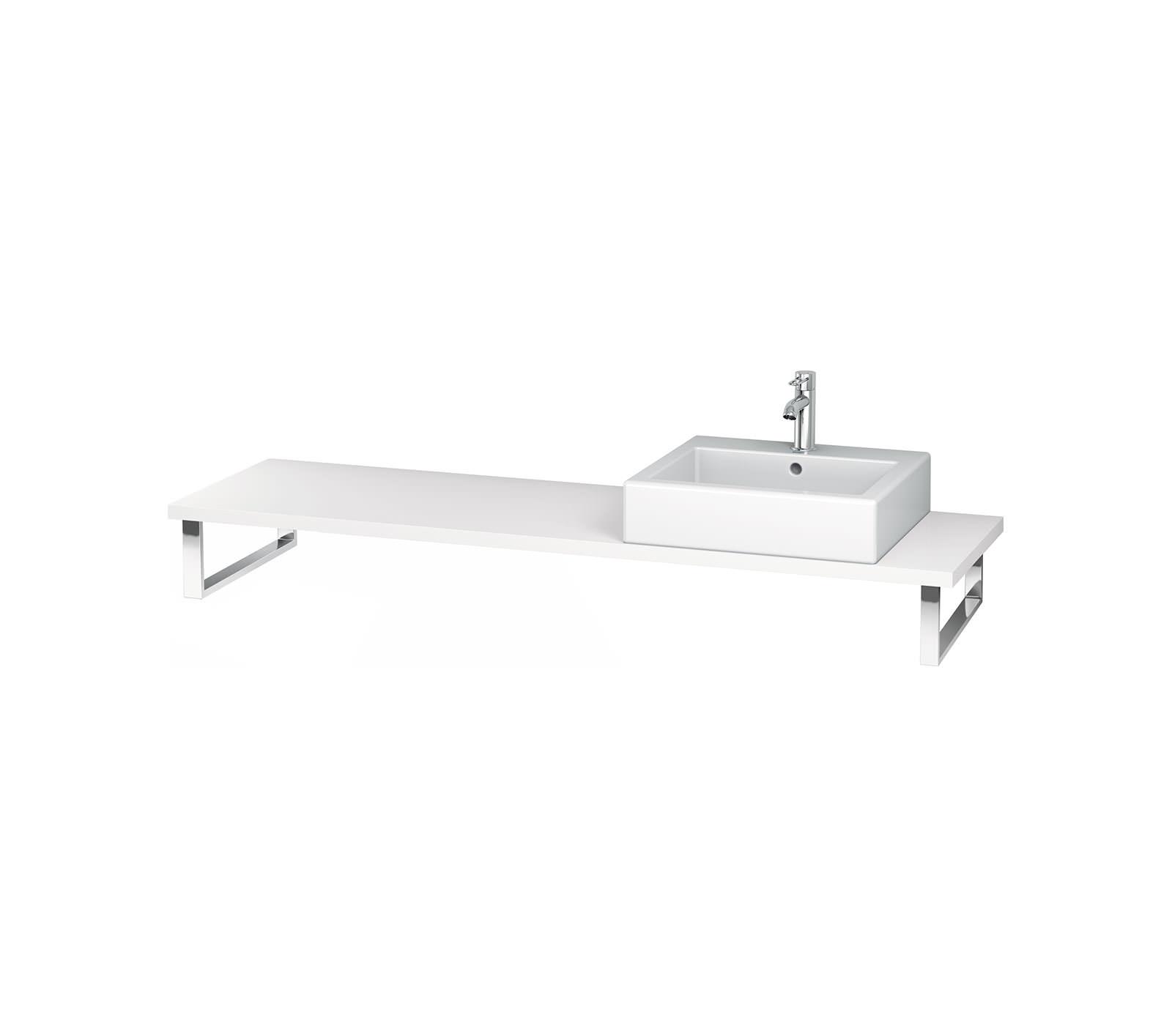 duravit l cube 800 x 550mm white matt 1 cut out console lc096001818. Black Bedroom Furniture Sets. Home Design Ideas
