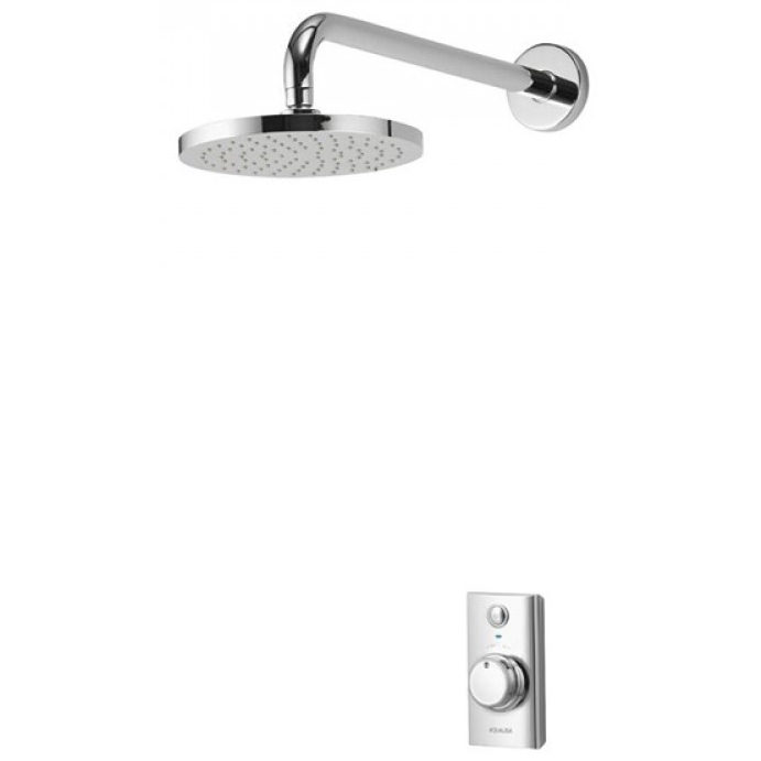 aqualisa visage concealed digital shower with fixed head. Black Bedroom Furniture Sets. Home Design Ideas